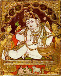Tanjore painting of Lord Krishna